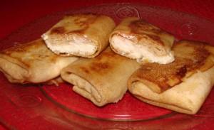 Блинное тесто с творогом рецепт с пошаговым